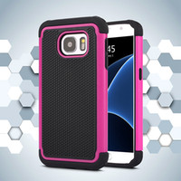Wholesale Ballistic Case S4 - Football Pattern Rugged ballistic Impact Combo PC+silicone Case cover For iphone 4 5 5s SE 6 6S IPHONE 7 GALAXY S4 S5 S6 S6 EDGE 100PCS LOT