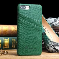 Wholesale Snake Pattern Back Cover - Japan Hot Sale Case For iPhone 7   7 Plus Simple Snake Pattern Leather Wallet Back Cover With 2 Card Pockets Slim Holster