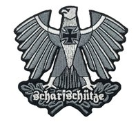 Wholesale Iron Badges Wholesale - WHOLESALE PRICE GERMAN ARMY SHARPSHOOTER SNIPER EAGLE CROSS EMBROIDERED IRON PATCH MORALE MILITARY SHIELD SHOULDER BADGE FREE SHIPPING