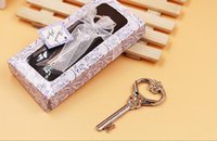 Wholesale Metal Key Shaped Bottle Opener - Victoria bottle opener Creative metal key shape opener Gift box packaging Europe and the United States wedding gift