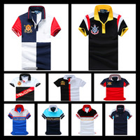 Wholesale Shirts For Men Models - 2017 Wholesale-Free Big Horse Polo Shirt Men's Fashion City Models Short Sleeve Casual Style Sportswear For Sport Men Safety Clothing