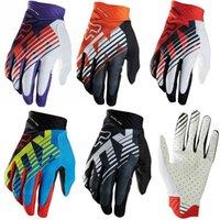 Wholesale Gears For Bikes - FOX MTB Racing Gloves 5 Colors Motocross Dirtpaw Rockstar Full Finger Protective Gear for Ski Bike