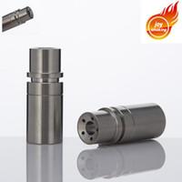cuenco de aceite de titanio al por mayor-Domeless Titanium Nail para OilWax Water Pipe Glass Bong tiene 14mm 18mm Dual Female Joint El Bowl tiene 5 agujeros