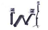 monter le héros achat en gros de-Accessoires Pliable 3 Voies Monopod Selfie Support de montage pour caméra Bras de rallonge Support de trépied pour Gopro Hero 7 6 5 4 3 2 Xiaomi Yi SJCAM