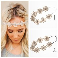 Fasce di fiori Fiori bande elastiche Head Girasole Girls Womens Hairband Garlands Accessori per capelli Princess Headdress Tools Products