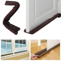 Wholesale Twin Door - 2017 new home door Twin Door Draft Dodger Guard Stopper Energy Saving Protector Dustproof Doorstop Home