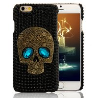 Wholesale 3d Diamond Crystal Hard Case - 3D Cute Black Diamond Crystal Rock Skull Hard phone Case For iPhone 6 6s 6plus 7 Plus