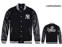 jaquetas de couro do homem hip hop venda por atacado-2019 nova alta qualidade mens jaquetas de couro de beisebol de inverno dos homens hip hop outono inverno alta marca de moda jaquetas casacos baratos fle