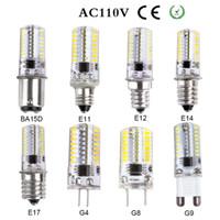 Wholesale E11 Bulb - LED lamp G4 G8 G9 E11 E12 E14 E17 BA15D corn Bulb AC 220V 110V 7W 12W 15w LED light spotlight bulbs