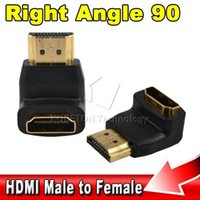 Wholesale Right Angle Hdmi Cable Adapter - Wholesale-Best Signal Quality 90-degree Right Angle HDMI Male to Female Cable Extend Converter Adapter 1080p for HD LCD HDTV
