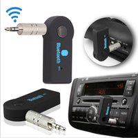 Venta al por mayor-Mini Bluetooth inalámbrico audio receptor de música adaptador 3,5 mm estéreo A2DP coche kit para hablar música en casa Streaming Sound System