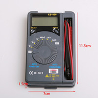 Wholesale Digital Multimeter Automatic - wholesale 20pcs lot digital portable compact multimeter, automatic range #XB866 DHL Fedex free shipping