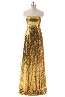 vestidos de moda para ocasiões especiais venda por atacado-Venda quente Mais Recente Moda Lantejoula Vestido de Noite Atraente Fora Do Ombro Até O Chão Ocasião Especial Senhoras Vestido