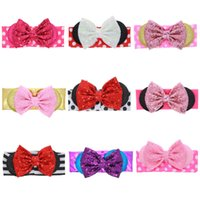Wholesale Cookies Bunny - New Christmas headband baby hair accessories, cute Bunny Ears headwear cute soft fabric head wraps with mini Rabbit ears and fortune cookie