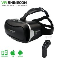 Wholesale Iphone Goggle - Wholesale- Google Cardboard VR Shinecon ii VR box 2.0 Virtual Reality goggles 3D Glasses for 4.5~6.0 inch iPhone samsung Smartphones