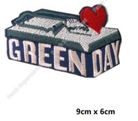 "Wholesale Metal Diy Punk - 3.5"" GREEN DAY Mousetrap Patches Music Band Heavy Metal Iron On badge for caps Tshirt clothes TRANSFER MOTIF APPLIQUE Rock Punk diy"