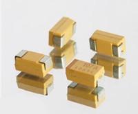 Wholesale Capacitor Sizing - Wholesale- 100PCS Chip Tantalum Capacitor C size 6032 SMD C 16V 100UF C 107C