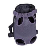 Wholesale Front Backpack - S5Q Pet Puppy Dog Portable Nylon Carrier Backpack Front Net Bag Shoulder Backpack AAAGJX