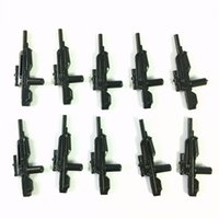 Wholesale Wholesale Toy Machine Guns - 10PCS By Mega Bloks Halo Weapon Marksman Sniper Shotgun Rifle Machine Gun RARE QA411 Popular Boy Gift