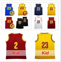 Wholesale I N - 2017 best-selling Youth Kid I g #2 #23 Basketball jersey High quality Men Irvi g L n #23 jerseys 100% Stitched Logos free shipping
