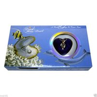 Compra Set Blu Scatola-Blue Box Love Wish Collana di perle Set Oyster Drop Pendant Xmas Gift