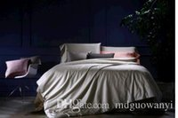 Graue Tröster Voll Kaufen -Custom Größe 2016 Frühling Sommer Luxus Silber Grau Maulbeere Seide Satin Bettwäsche Set King Size Tröster Sets Queen Full Twin Duvet Cover