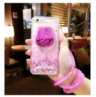 Wholesale iphone case 5s online - Glitter Liquid Red Wine Cases Soft TPU Shining Bling Style For IPhone Plus S Plus S Cradle