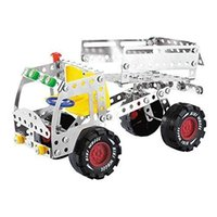 Juguetes para niños Bloques de construcción de metal Juguetes Ensamble Metal Construction Vehicle Toy with retail Box Packing Souptoys