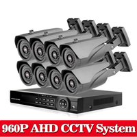 Wholesale High Definition Cctv Dvr - Security CCTV 2500TVL 960P 1.3MP 8CH AHDN 1080P Day Night IR Camera Kit High Definition Video Surveillance AHD DVR CCTV System