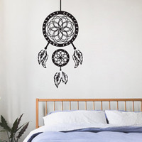 Vinyl painting graphics - Dream Cather Wall Stickers Home Decoration Accessories Creative Vinyl Wall Decals Ancient Indian Painting On The Wall