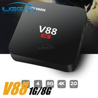 Scishion V88 Android Box RK3229 Android 6.0 Smart TV Box Media Player H.265 4K Streaming Boxes con kd 16.1 pre caricato WIFI 2.4G 100M Lan