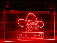 LE116r- Bud Light George Strait Bar Pub LED Luz de Neón Señal