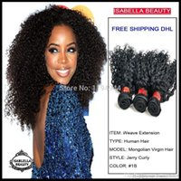Wholesale Hair Curl Textures - African American Black Hair Style Romance Curl Hair Weaving Top 5A Grade 100% Unprocessed Mongolian Curly Hair Weave 3,4,5pcs lot