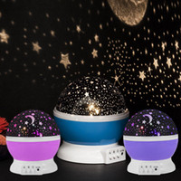 Night Star Moon Sky Starry Projector Lampe LED Light Kids Baby Bedroom Festive Party Supplies