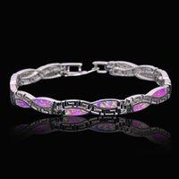 bracelet en argent au détail achat en gros de-En gros Au Détail De Mode Fine Bracelet D'opale De Feu 925 Sterling Sliver Bijoux Pour Les Femmes BNT170824001