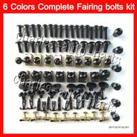 Wholesale Suzuki Gsxr Tank Pads - Fairing bolts full screw kit For SUZUKI GSXR600 GSXR750 04 05 GSXR 600 750 K4 GSX R600 R750 2004 2005 Nuts screws Gas Tank Pad Tank stickers