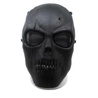 esqueleto de metal completo venda por atacado-2017 novo Malha Do Exército Máscara Facial Completa Crânio Esqueleto Gun Game Proteger Máscara De Segurança frete grátis