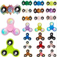 In magazzino Spinners Spin Light Mouse LED Stampa Fidget Spinner EDC Triangolo Dita Spinning Decompression Fingers Anxiety Toys HandSpinner