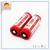 Nipple Red chinesische 18500 Batterie chinesische Mainfire ICR 18500 hohe Entladerate Batterie mit Knopf oben 18500 Batterie