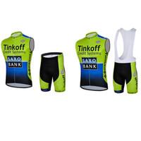 Wholesale Saxo Bank Pink - 2017 Pro Team Saxo Bank Tinkoff Cycling sleeveless Jersey summer men Tour De France Cycling Clothing Bicycle Clothes Maillot Ciclismo B2005