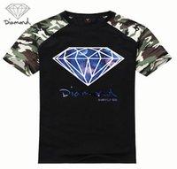 Wholesale Browning T Shirt Large - Summer fashion short sleeve printed diamond supply co men t shirt skate brand hip hop loose large code custom printed T-shirt
