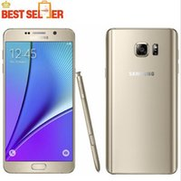 Wholesale Android Cell Note - Samsung Galaxy Note 5 N920A LTE Cell phones Quad Core 4GB RAM 32GB ROM 5.7 inches 1440 x 2560 pixels 16MP Camera NFC refurbished phone