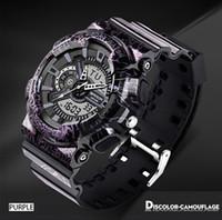 Wholesale Man S Wrist Watch - SANDA Men Sports Wrist Watch Fashion Camouflage G style Military Waterproof Male Digital S Shock Analog Quartz LED Digital Watch