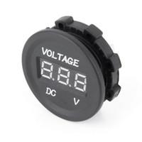 araba için 12v voltmetre toptan satış-Toptan-12V-24V Araba Motosiklet LED DC Dijital Ekran Voltmetre Su Geçirmez Metre Yeni Varış
