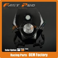 Wholesale Kx Dirt Bike - Motorcycle Dirt Bike Supermoto Universal LED Headlights Headlamp StreetFighter For CR YZ KX KTM SXF EXC SMR DRZ 125 200 250 450