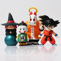 Wholesale crane ship - 4pcs set Dragon Ball Son Goku Master Roshi Fortuneteller Baba Crane Hermit Action Figure Toy PVC Collective Dolls Free Shipping