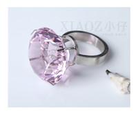 ingrosso cristalli da tavolo rosa-Wholesale- 1pcs Rosa K9 Anelli di tovagliolo di cristallo Shinning Diamante Decorazione da tavola, Decorazione di cristallo diamante di nozze