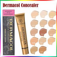 Wholesale Dc Color - Make Up DC Concealer Golden Dermacol Concealer Foundation Cover Primer Base Professional Face Dermacol Makeup Base Contour Palette