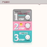 Wholesale Steps Facial Treatment - 3 steps to blackhead remover korean cosmetics facial face black head mask acne charcoal sheet mask Peeling Peel Off nose mask