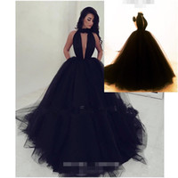 Wholesale Pearl Short Girl Jacket - 2017 Real Photo Black Evening Dresses Black Girl Africa Open Back Prom Dress Ball Gown Deep V-Neck Keyhole Neck Sexy Celebrity Party Gowns